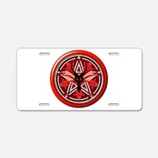 Fire Dragon Pentacle Aluminum License Plate
