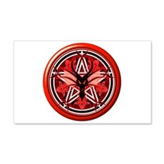 Fire Dragon Pentacle 22x14 Wall Peel