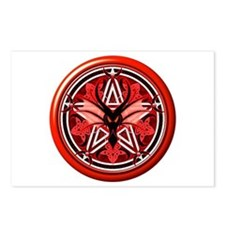 Fire Dragon Pentacle Postcards (Package of 8)