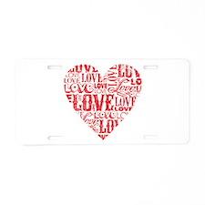 Love Words Aluminum License Plate