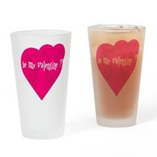 Be my Valentine Heart tribal Drinking Glass