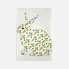 Carrot Calico Rabbit Rectangle Magnet