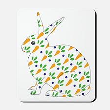 Carrot Calico Rabbit Mousepad