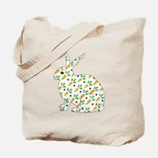Carrot Calico Rabbit Tote Bag