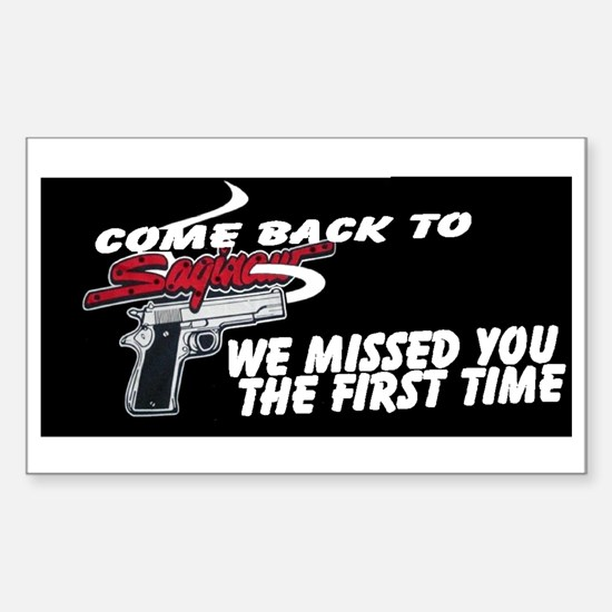 COME BACK TO SAGINAW Sticker (Rectangle)