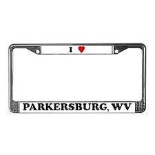 I Love Parkersburg License Plate Frame