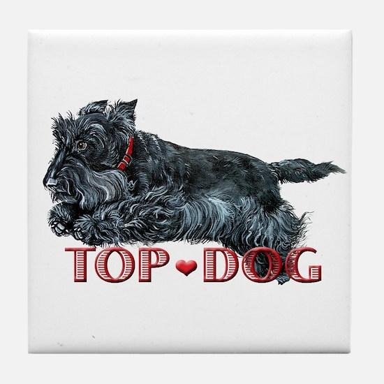 Top Dog Scottish Terrier Tile Coaster