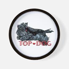 Top Dog Scottish Terrier Wall Clock
