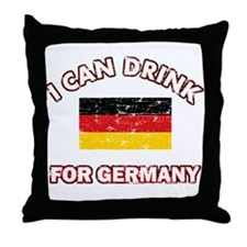 I can drink for Germany Throw Pillow