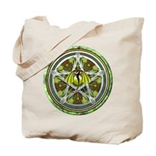 Celtic Earth Dragon Pentacle Tote Bag