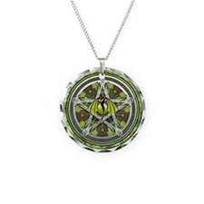 Celtic Earth Dragon Pentacle Necklace