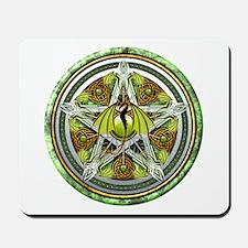Celtic Earth Dragon Pentacle Mousepad