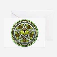 Celtic Earth Dragon Pentacle Greeting Cards (Pk of