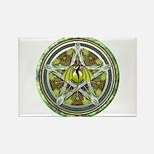 Celtic Earth Dragon Pentacle Rectangle Magnet