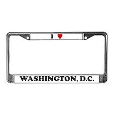 I Love Washington, D.C. License Plate Frame