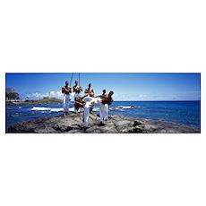 Capoeira Fighting Salvador Bahia Brazil Poster