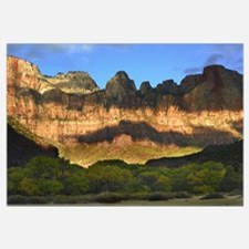Towers of the Virgin with cloud shadows Zion Natio