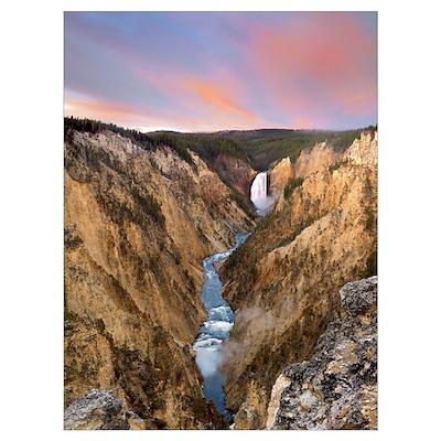Lower Yellowstone Falls Yellowstone National Park Poster