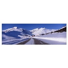 Canada, Alberta, Banff National Park, icefield, ro Poster