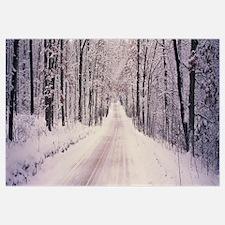 Snowy road Holland MI