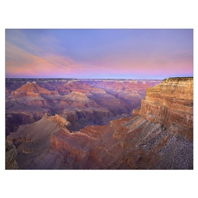 Grand Canyon as seen from Mohave Point at sunset G Poster