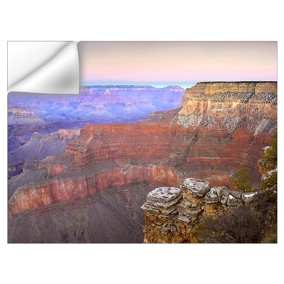 Full moon over the Grand Canyon at sunset as seen Wall Decal