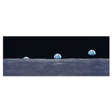 Earth Rise fr Lunar Surface Poster