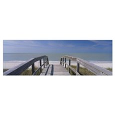 Boardwalk on the beach, Gasparilla Island, Florida Framed Print