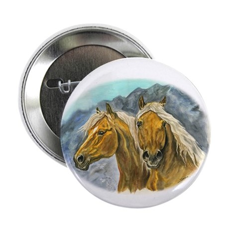 """Painting of Haflinger horses 2.25"""" Button"""
