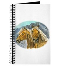 Painting of Haflinger horses Journal