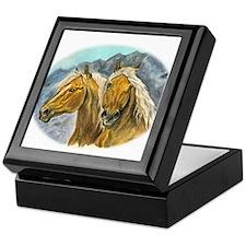 Painting of Haflinger horses Keepsake Box