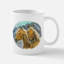 Painting of Haflinger horses Mug