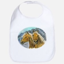 Painting of Haflinger horses Bib