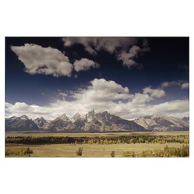 Teton Range, Snake River Valley, Grand Teton Natio Poster