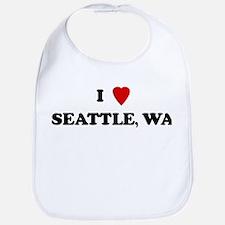 I Love Seattle Bib