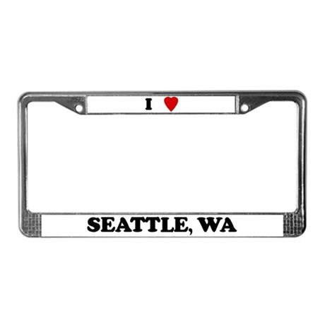 I Love Seattle License Plate Frame