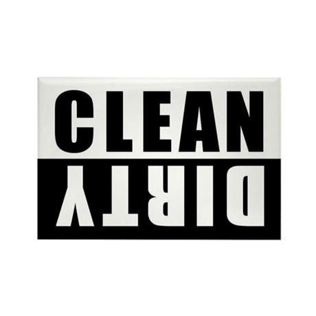 CLEAN-DIRTY DISHWASHER Rectangle Magnet (100 pack)