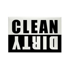 CLEAN-DIRTY DISHWASHER Rectangle Magnet (10 pack)