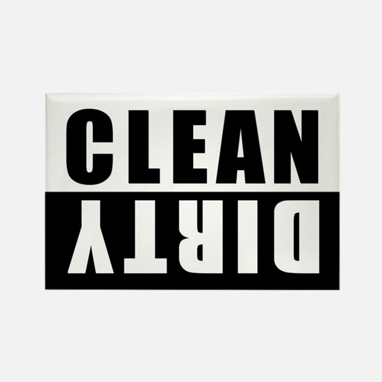 CLEAN-DIRTY DISHWASHER Rectangle Magnet