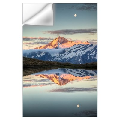 Mount Aspiring, moonrise over Cascade Saddle, Moun Wall Decal
