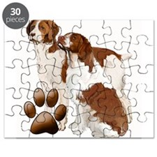 two brittaany spaniels Puzzle