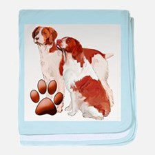two brittaany spaniels baby blanket