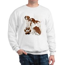 two brittaany spaniels Sweatshirt