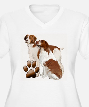 two brittaany spaniels T-Shirt