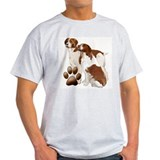 Brittany dogs Mens Light T-shirts