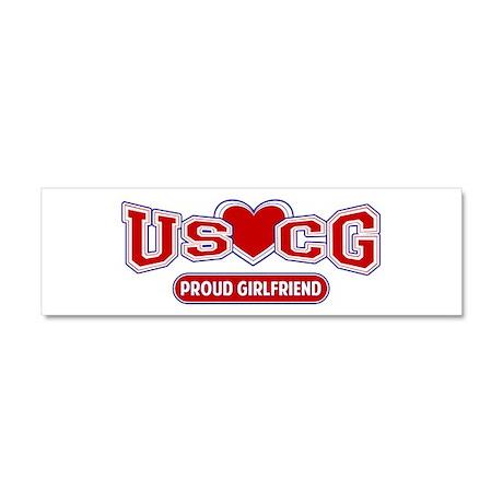 USCG Girlfriend Car Magnet 10 x 3