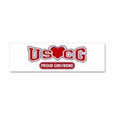 USCG Girlfriend Car Magnet 10 x 3