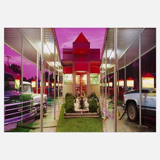 Facade of a restaurant, Sonic Drive-In Restaurant,