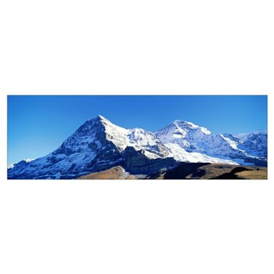 Eiger North Wall and area Eiger and Monch Switzerl Canvas Art