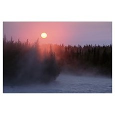 Sunrise over Kasilof River, Kasilof, Alaska Poster